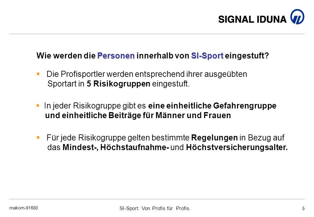 Wie werden die Personen innerhalb von SI-Sport eingestuft