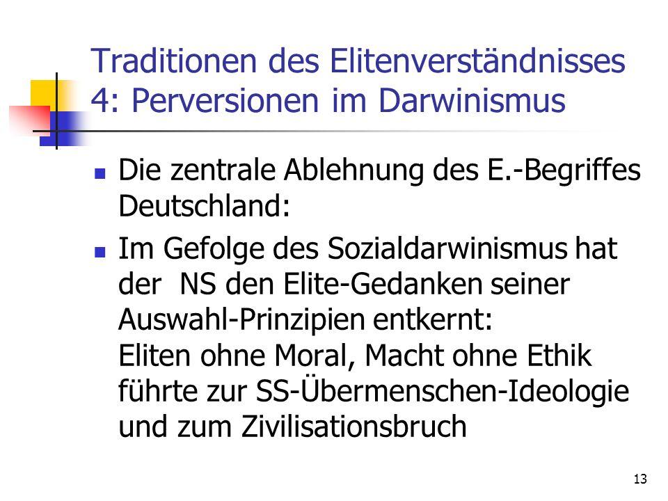 Traditionen des Elitenverständnisses 4: Perversionen im Darwinismus