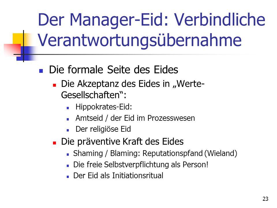 Der Manager-Eid: Verbindliche Verantwortungsübernahme