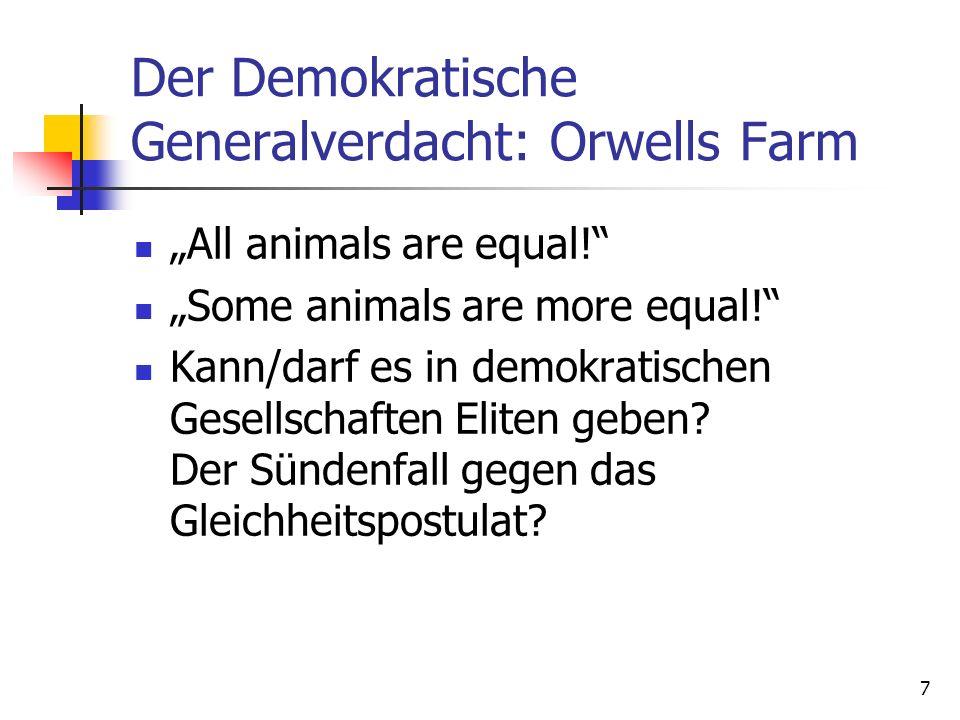 Der Demokratische Generalverdacht: Orwells Farm