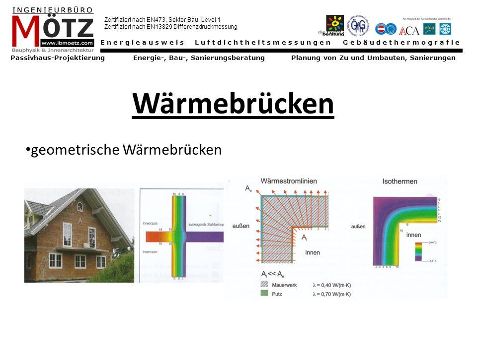 Wärmebrücken geometrische Wärmebrücken