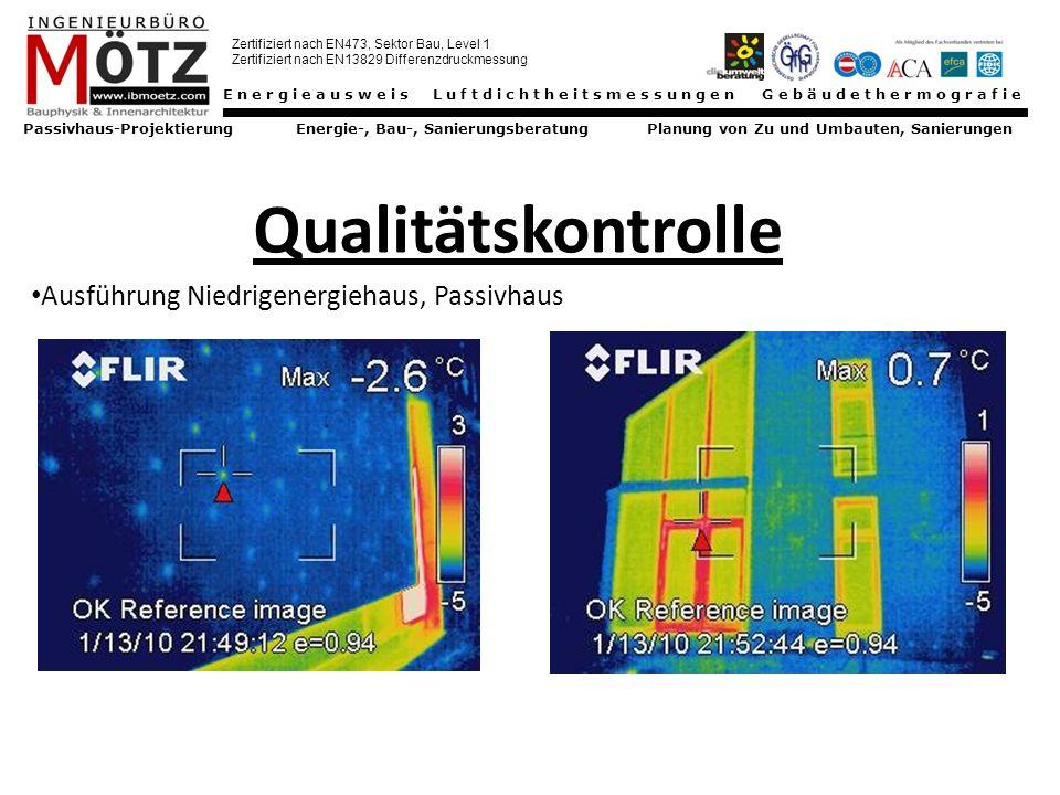 Qualitätskontrolle Ausführung Niedrigenergiehaus, Passivhaus