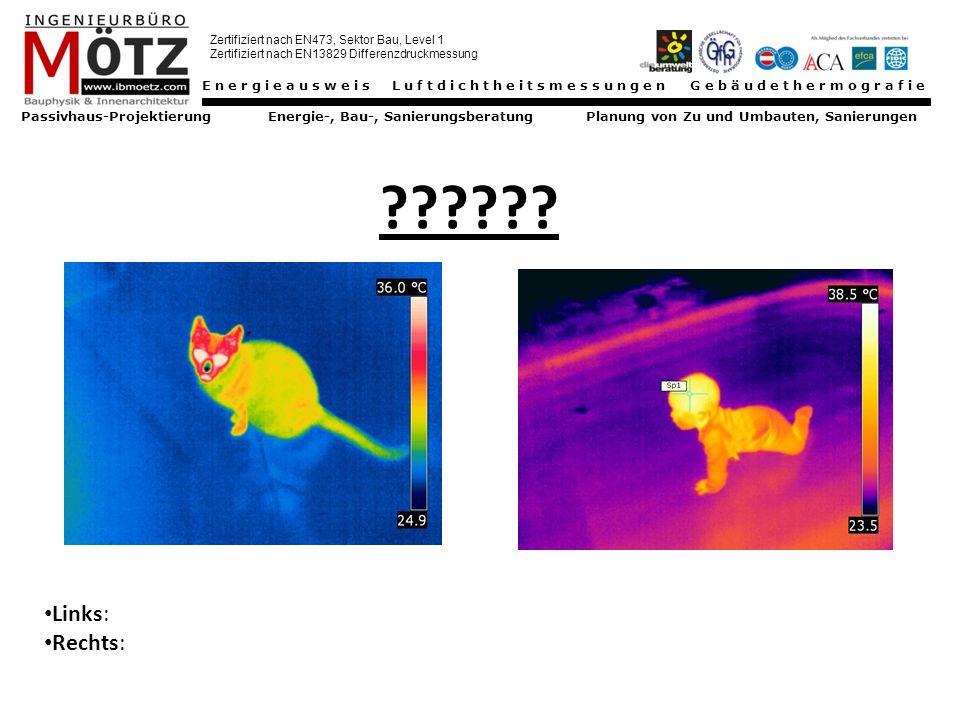 Energieausweis Luftdichtheitsmessungen Gebäudethermografie