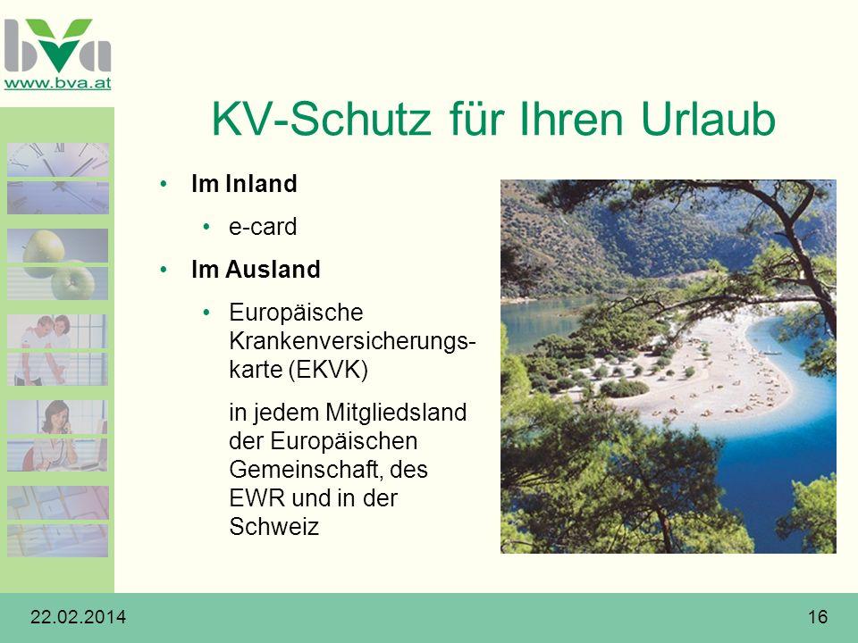 KV-Schutz für Ihren Urlaub