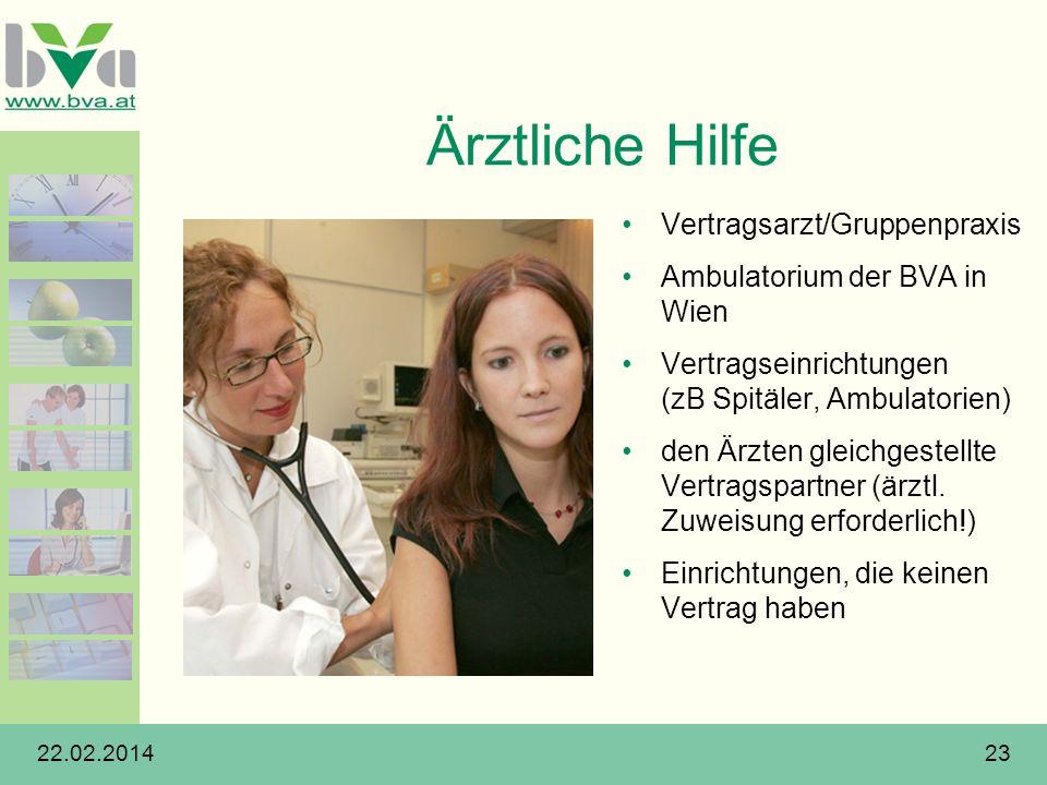 Ärztliche Hilfe Vertragsarzt/Gruppenpraxis