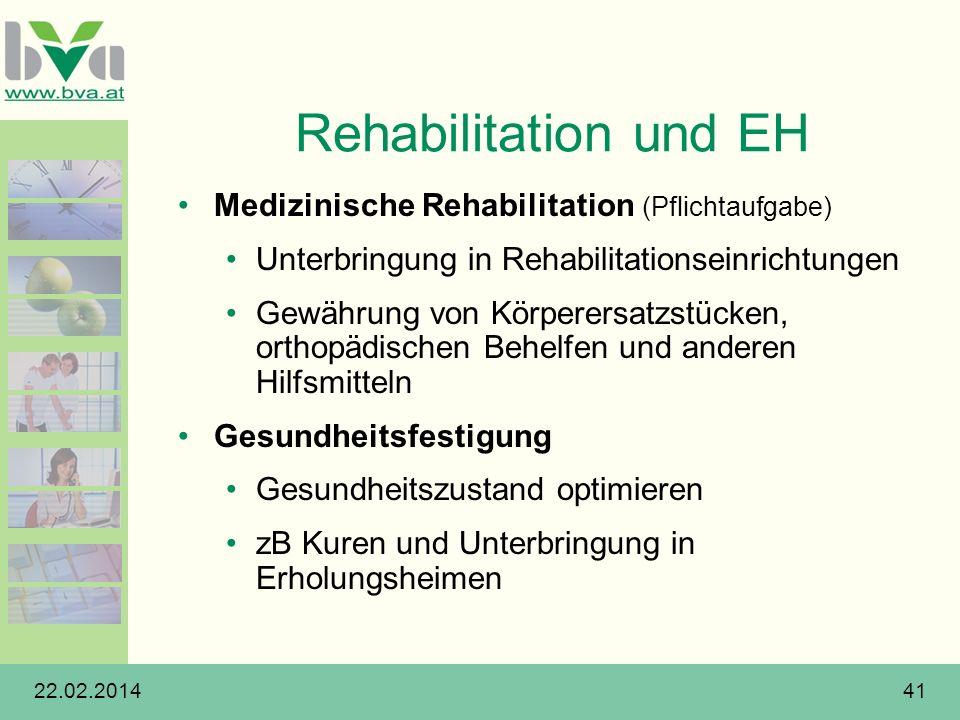 Rehabilitation und EH Medizinische Rehabilitation (Pflichtaufgabe)