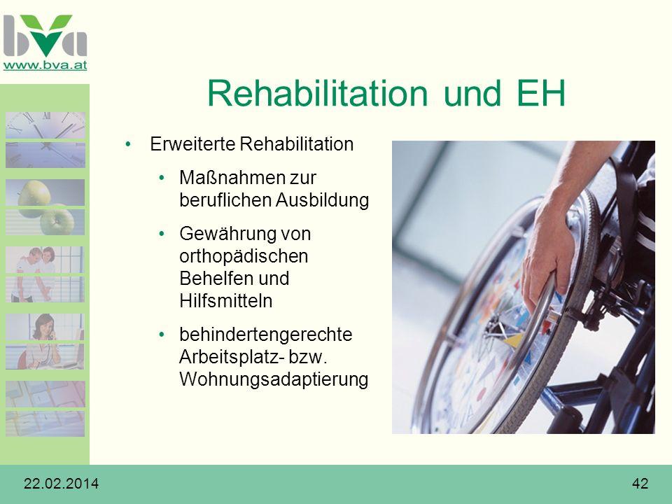 Rehabilitation und EH Erweiterte Rehabilitation