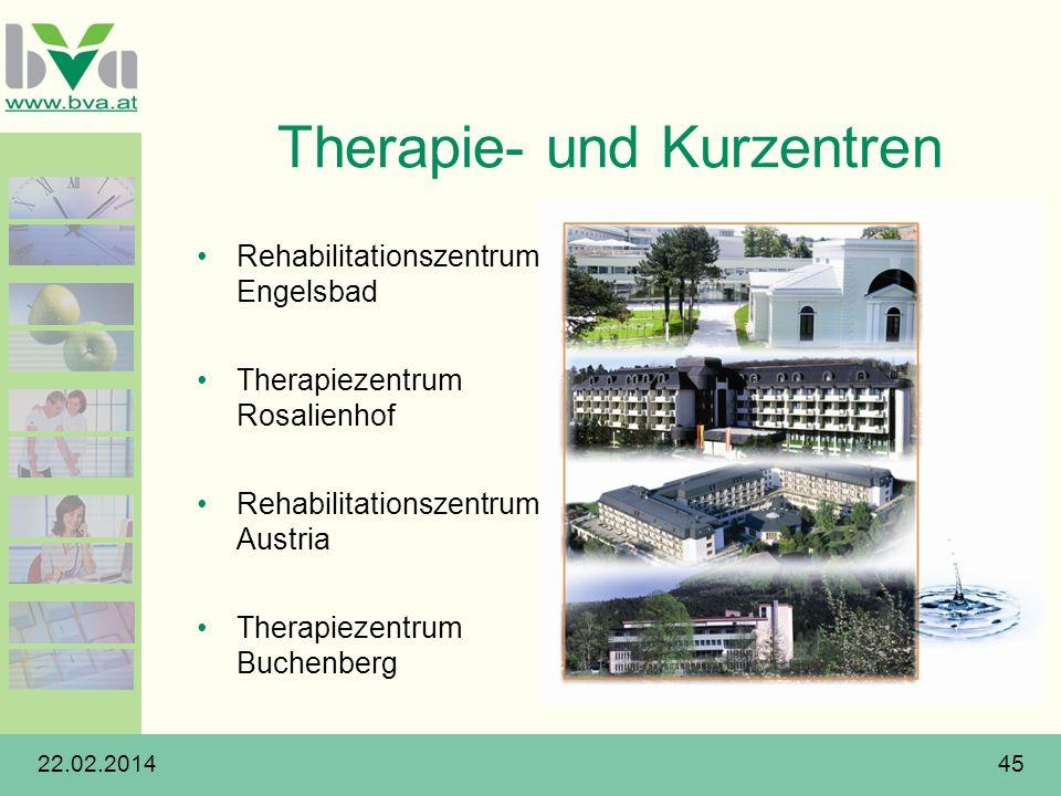 Therapie- und Kurzentren
