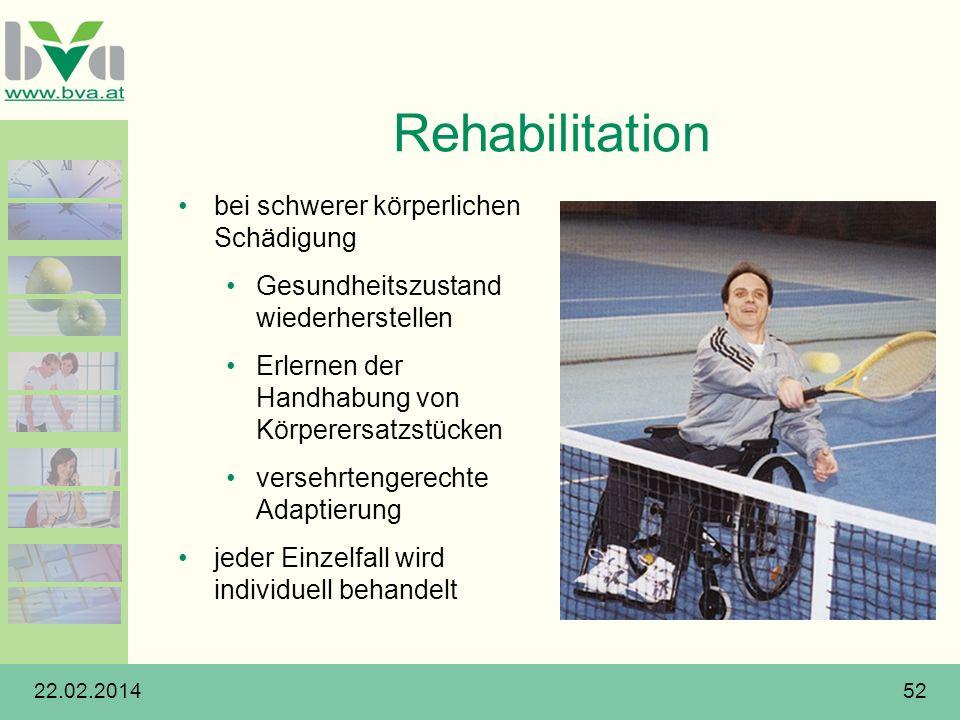 Rehabilitation bei schwerer körperlichen Schädigung