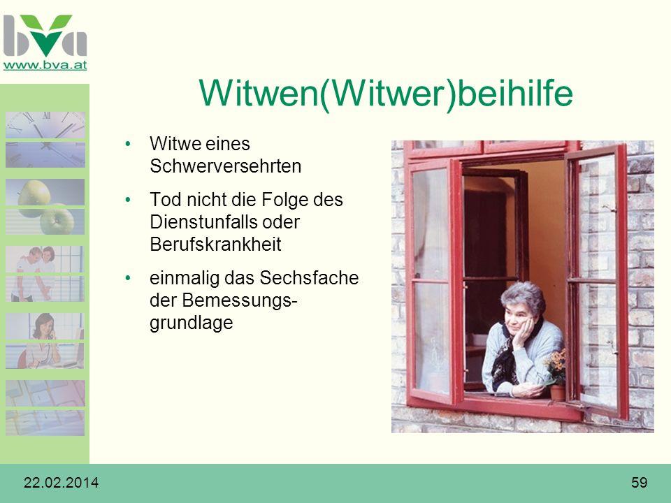 Witwen(Witwer)beihilfe