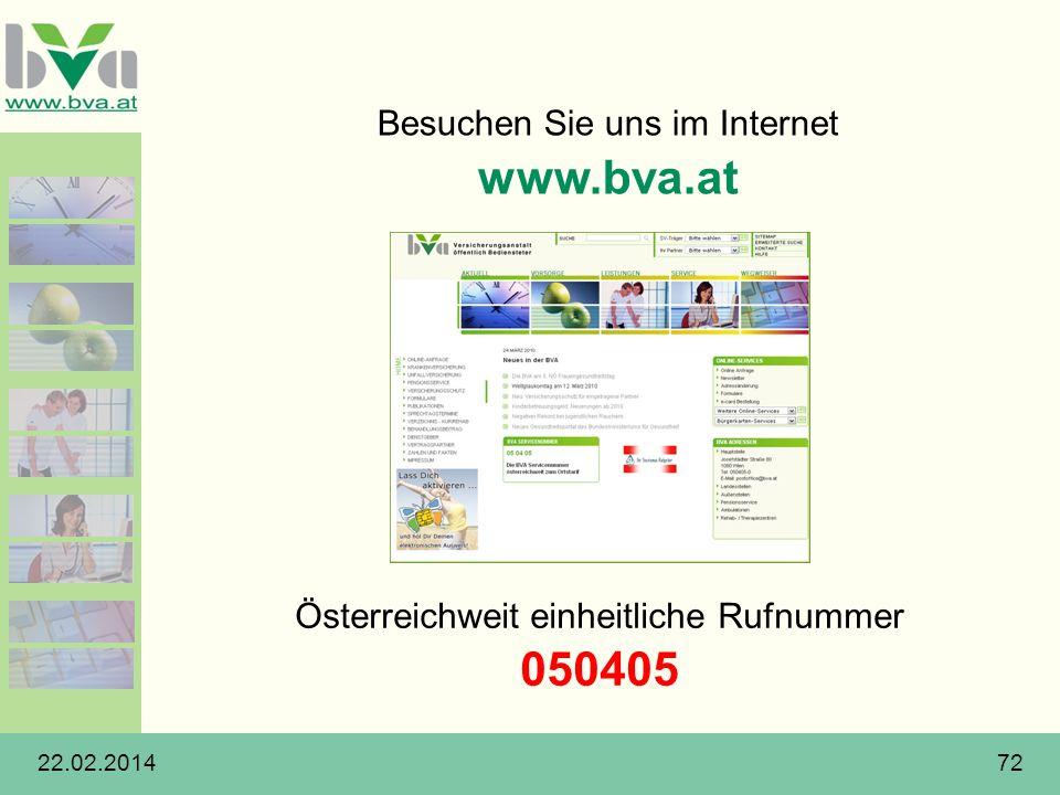 www.bva.at 050405 Besuchen Sie uns im Internet