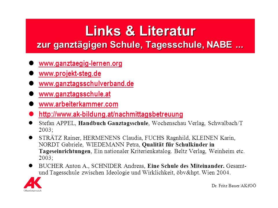 Links & Literatur zur ganztägigen Schule, Tagesschule, NABE ...