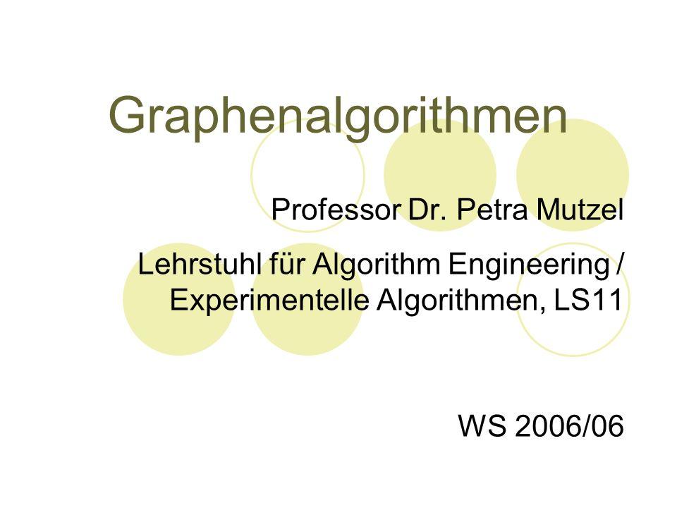 Graphenalgorithmen Professor Dr. Petra Mutzel