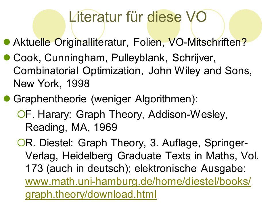 Literatur für diese VO Aktuelle Originalliteratur, Folien, VO-Mitschriften
