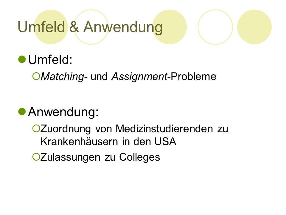 Umfeld & Anwendung Umfeld: Anwendung: