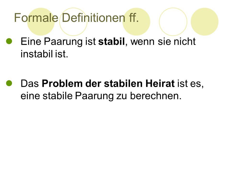 Formale Definitionen ff.