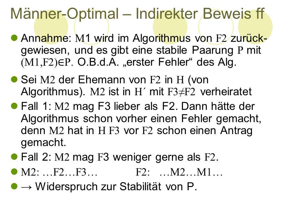 Männer-Optimal – Indirekter Beweis ff