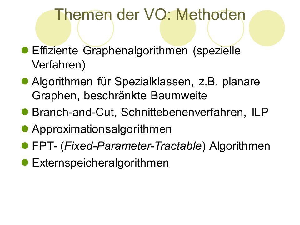 Themen der VO: Methoden
