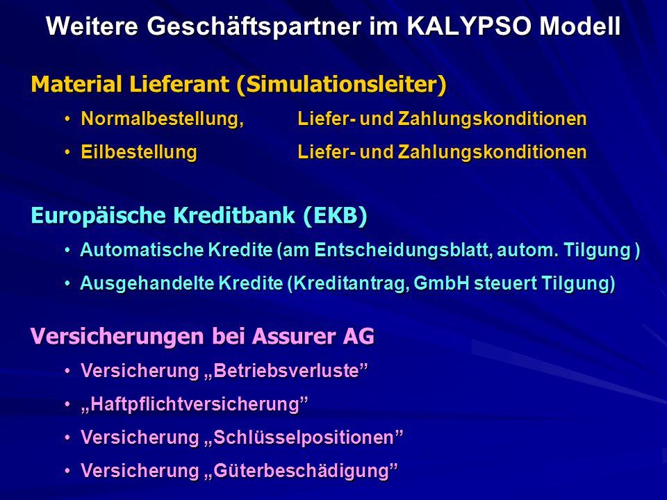 Weitere Geschäftspartner im KALYPSO Modell