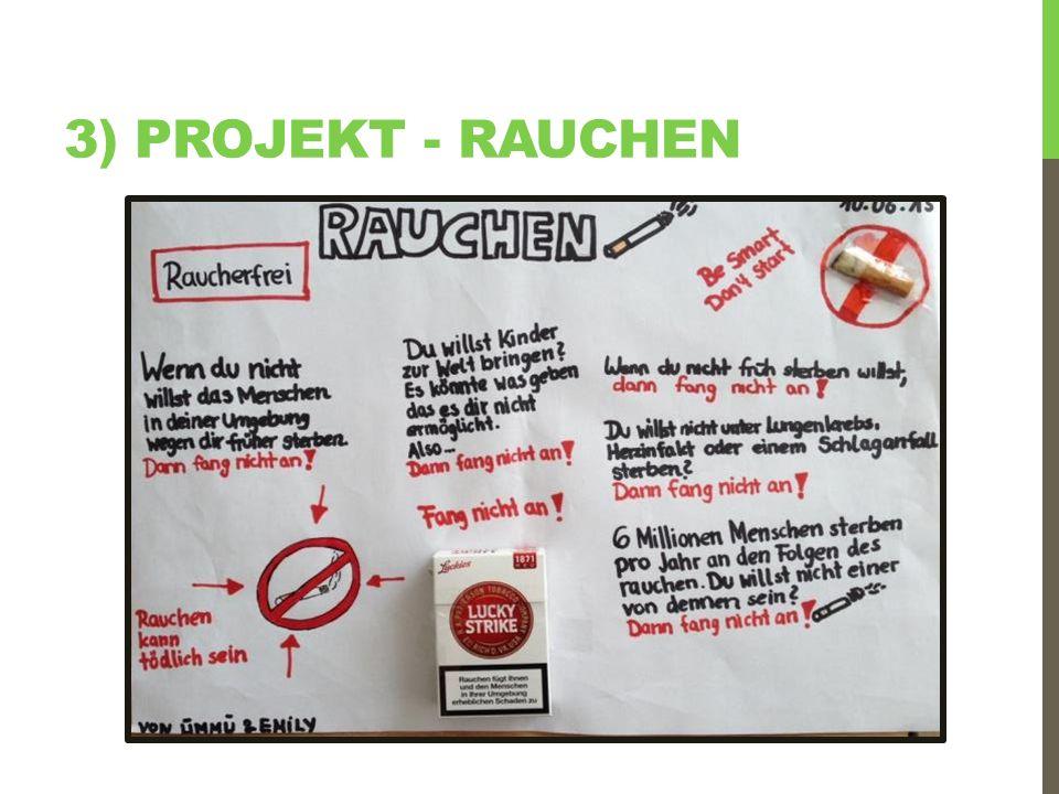 3) Projekt - rauchen