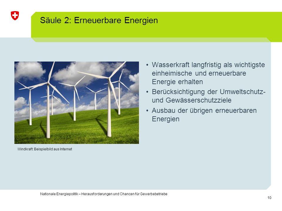 Säule 2: Erneuerbare Energien