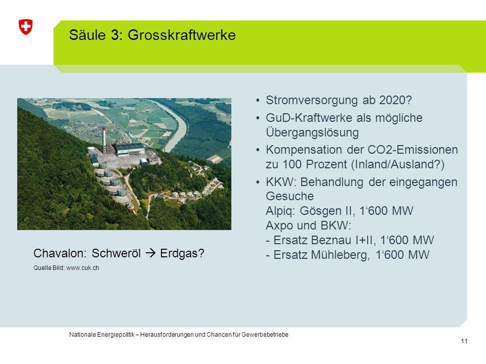 Säule 3: Grosskraftwerke