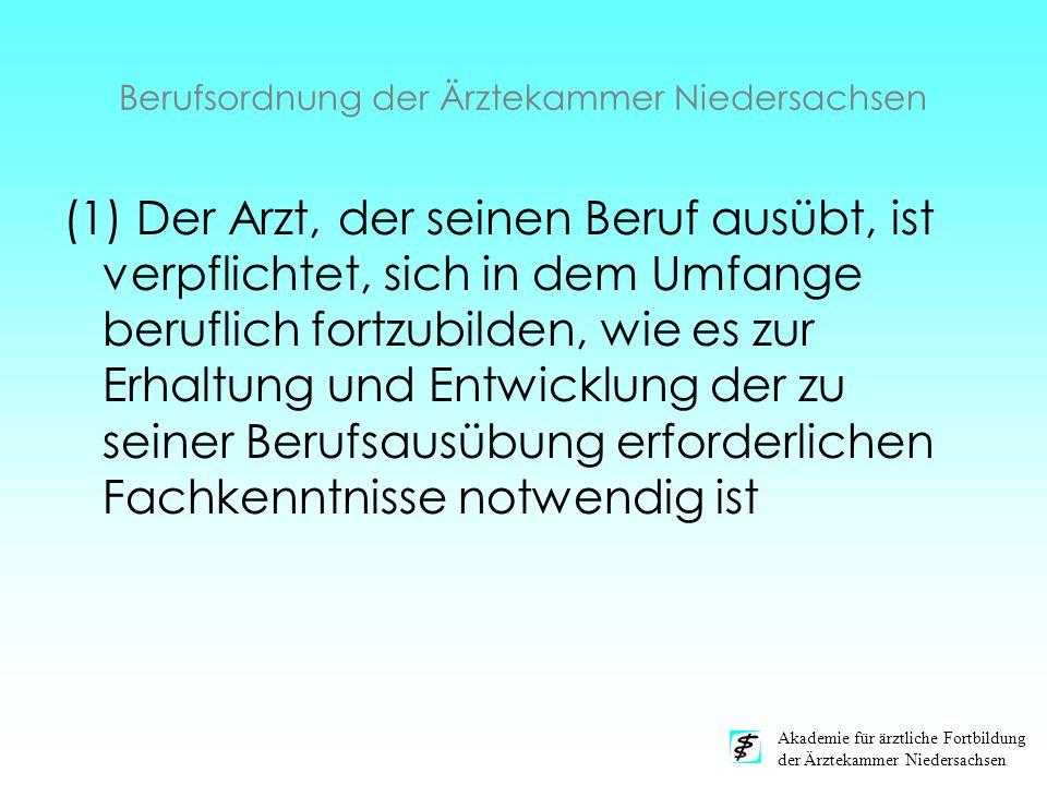 Berufsordnung der Ärztekammer Niedersachsen
