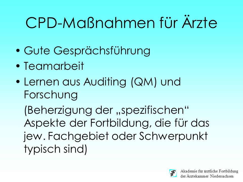 CPD-Maßnahmen für Ärzte