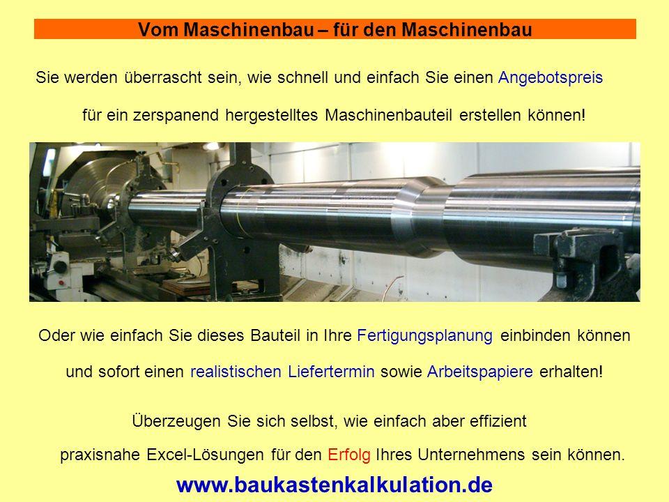 Vom Maschinenbau – für den Maschinenbau