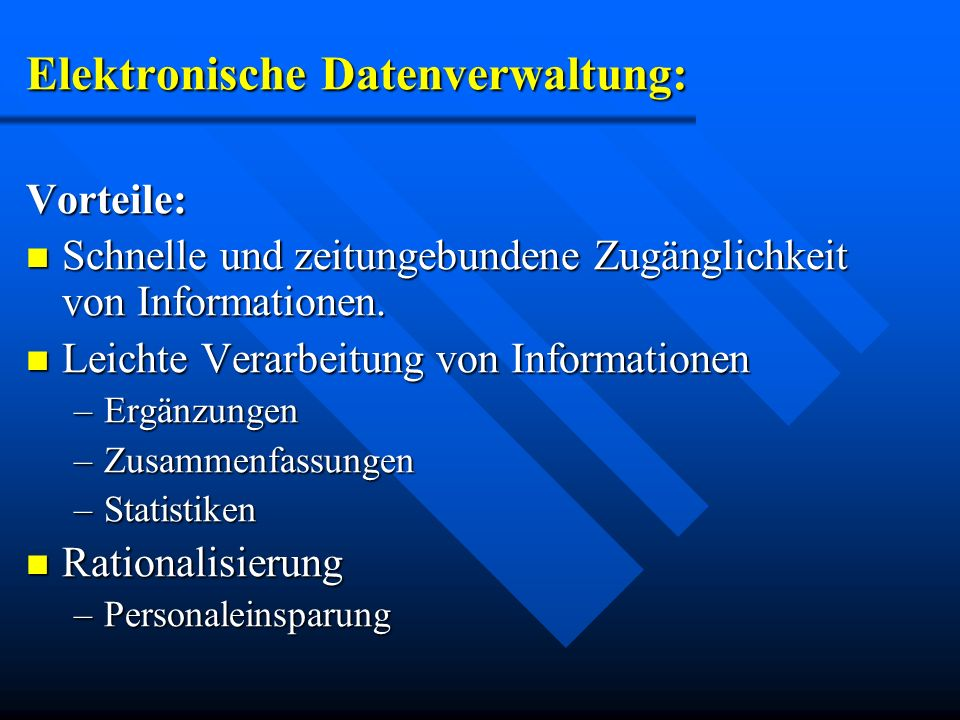 Elektronische Datenverwaltung: