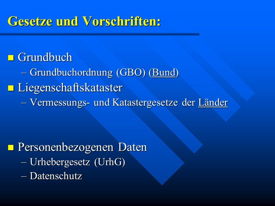 Gesetze und Vorschriften:
