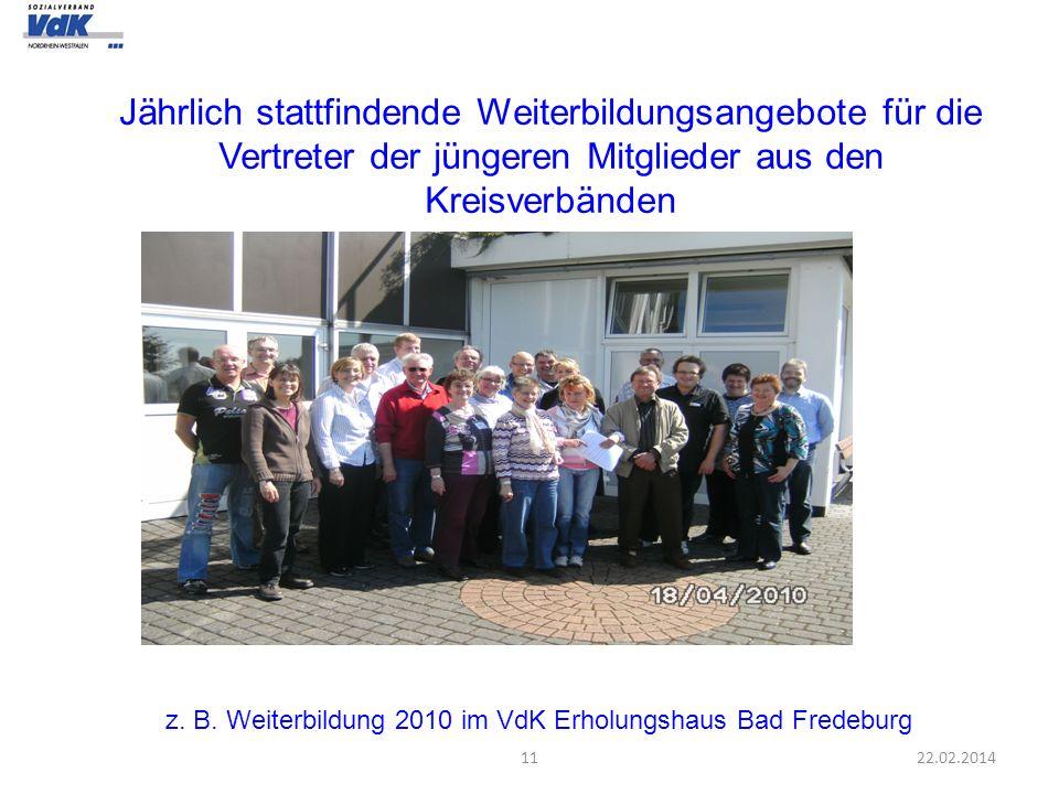 z. B. Weiterbildung 2010 im VdK Erholungshaus Bad Fredeburg