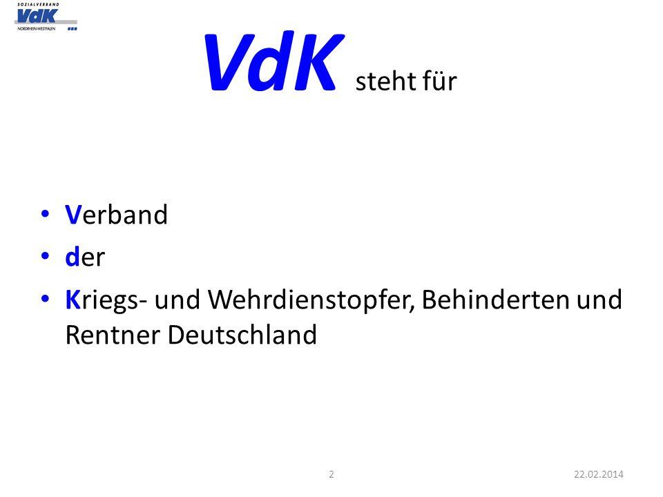 VdK steht für Verband der