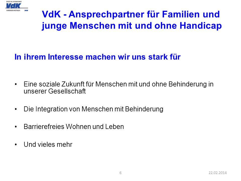 VdK - Ansprechpartner für Familien und junge Menschen mit und ohne Handicap