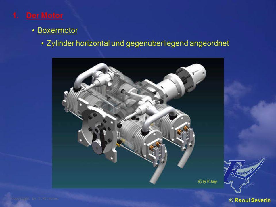Zylinder horizontal und gegenüberliegend angeordnet