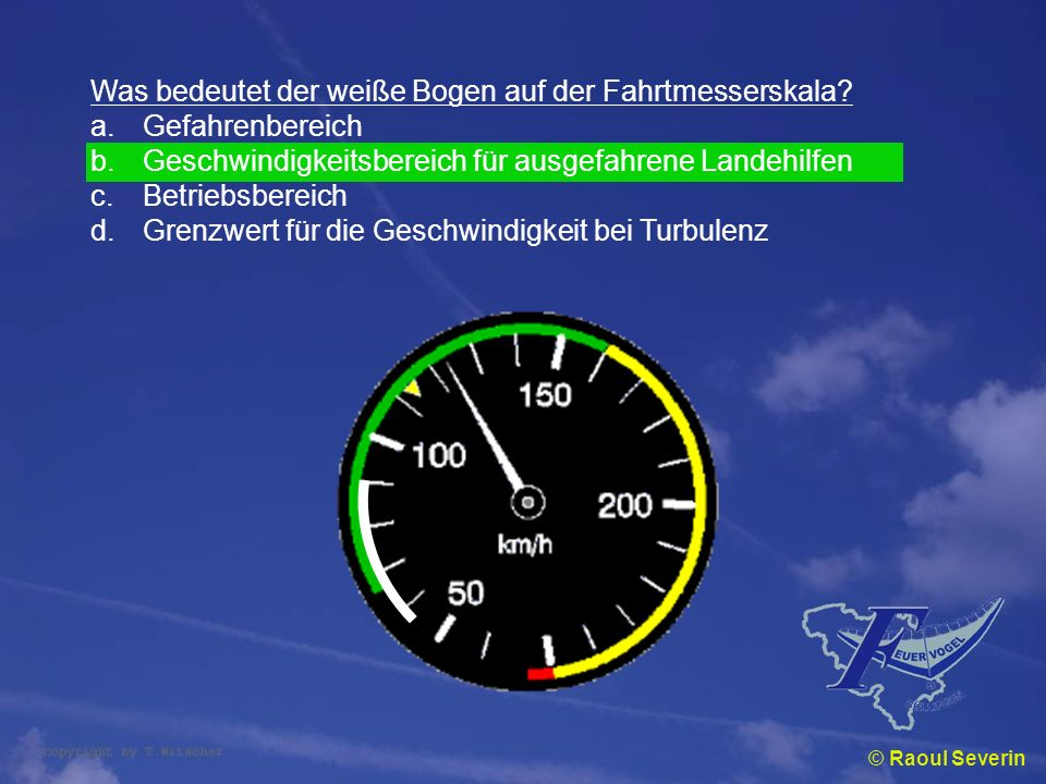 Was bedeutet der weiße Bogen auf der Fahrtmesserskala Gefahrenbereich
