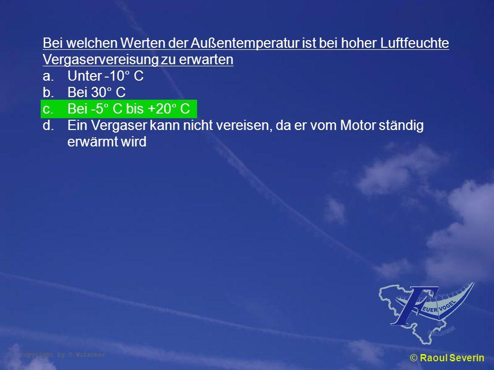 Bei welchen Werten der Außentemperatur ist bei hoher Luftfeuchte