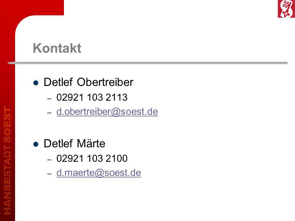 Kontakt Detlef Obertreiber Detlef Märte 02921 103 2113
