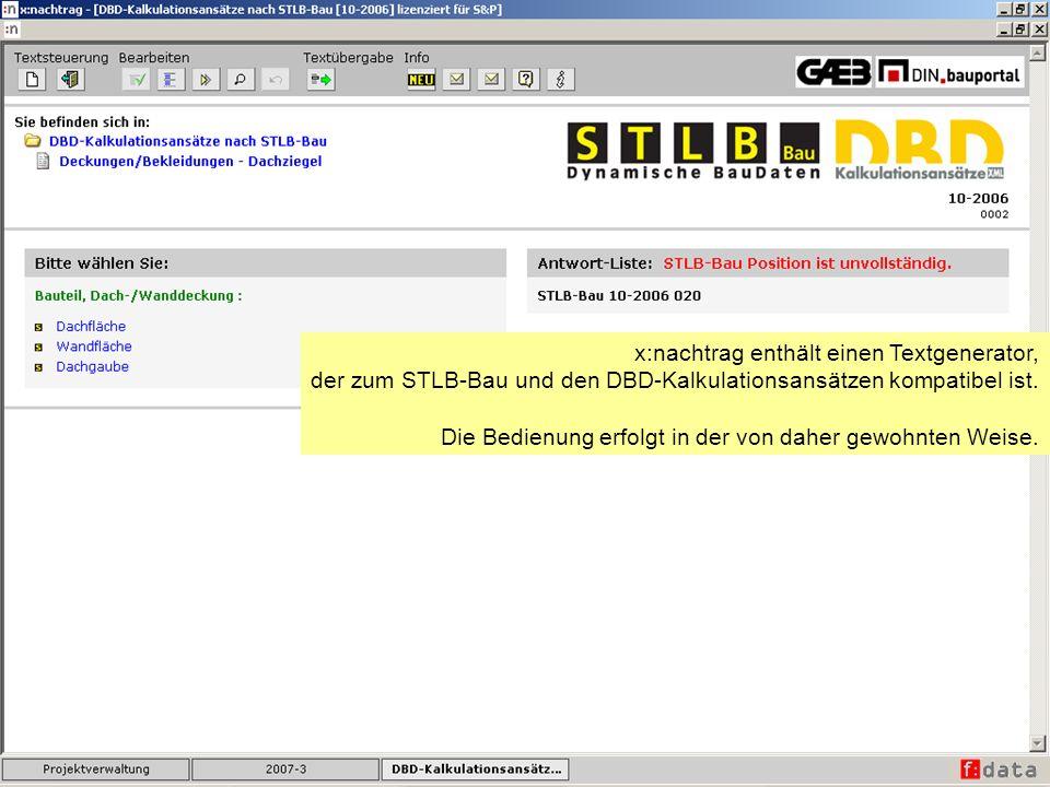 x:nachtrag enthält einen Textgenerator,