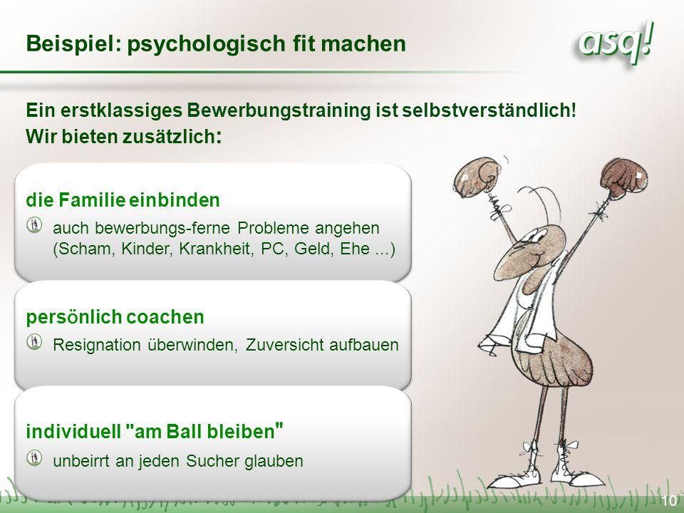 Beispiel: psychologisch fit machen