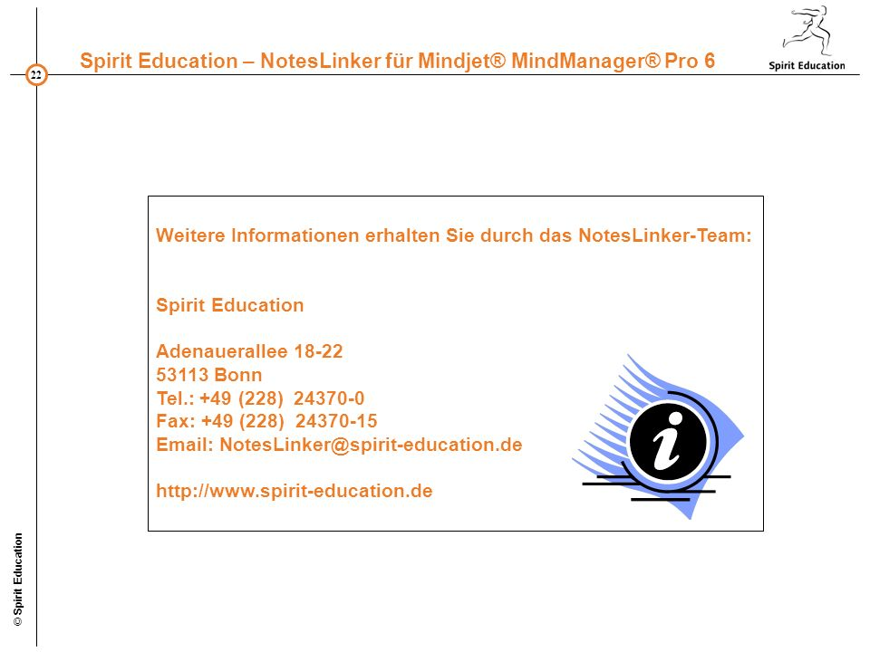 Weitere Informationen erhalten Sie durch das NotesLinker-Team: