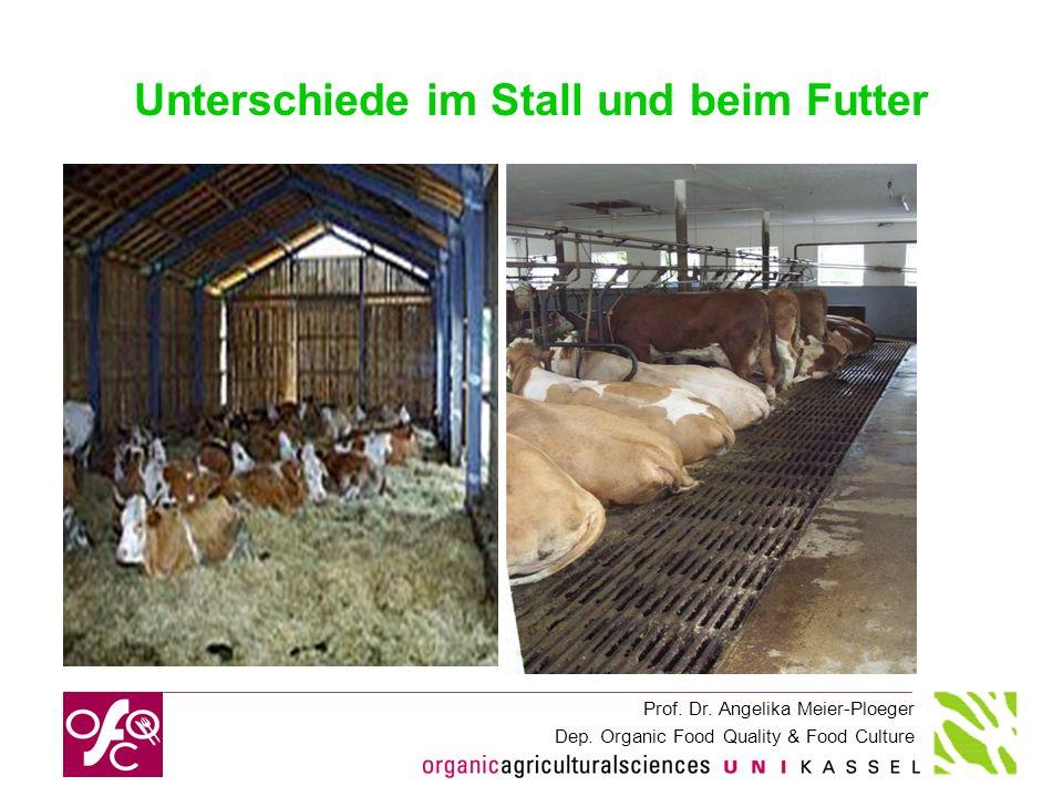 Unterschiede im Stall und beim Futter