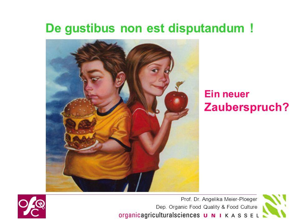 De gustibus non est disputandum !