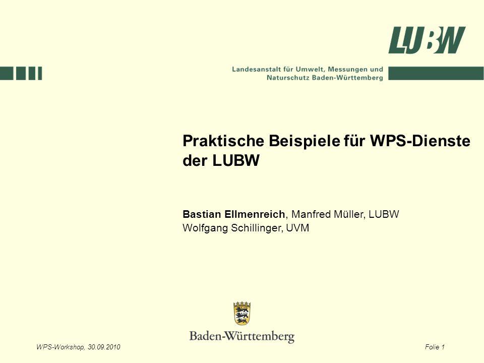 der LUBW Praktische Beispiele für WPS-Dienste