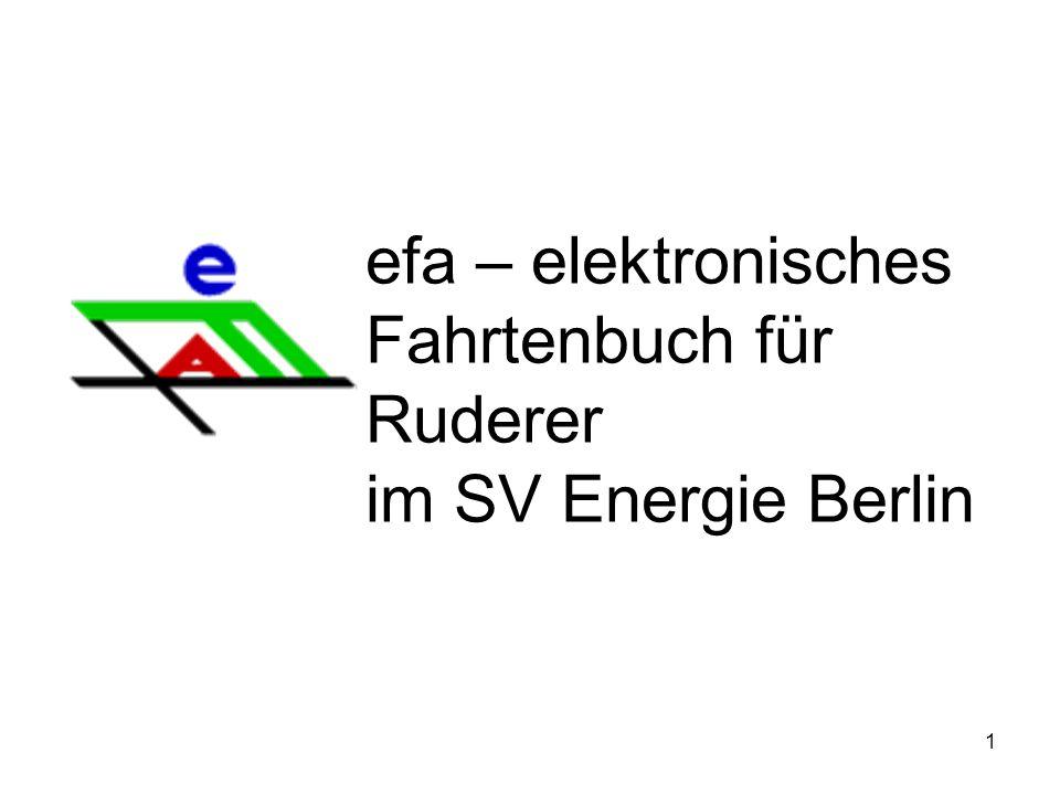 efa – elektronisches Fahrtenbuch für Ruderer im SV Energie Berlin
