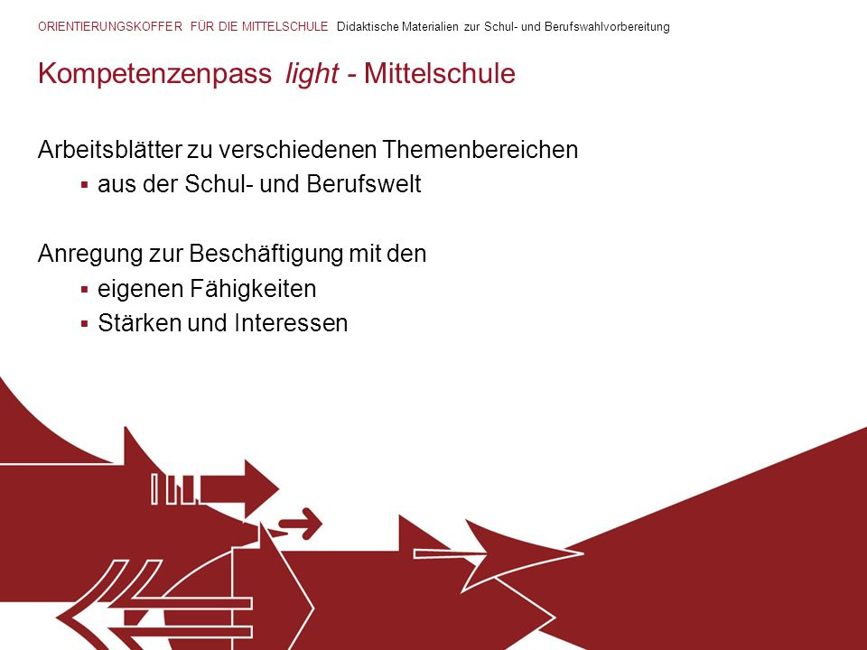 Kompetenzenpass light - Mittelschule
