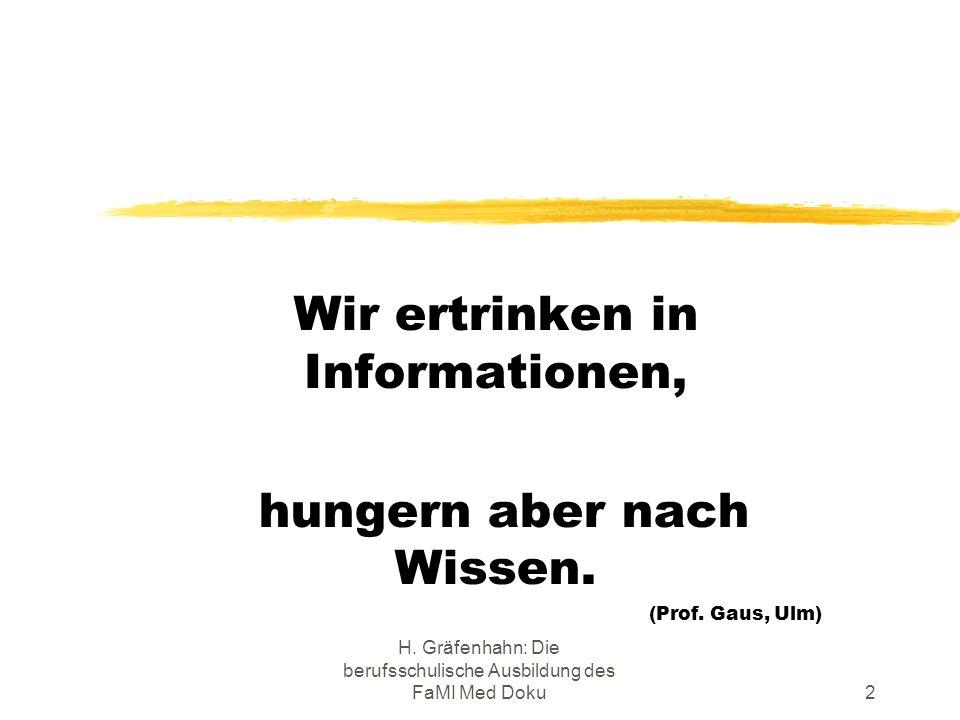 Wir ertrinken in Informationen,