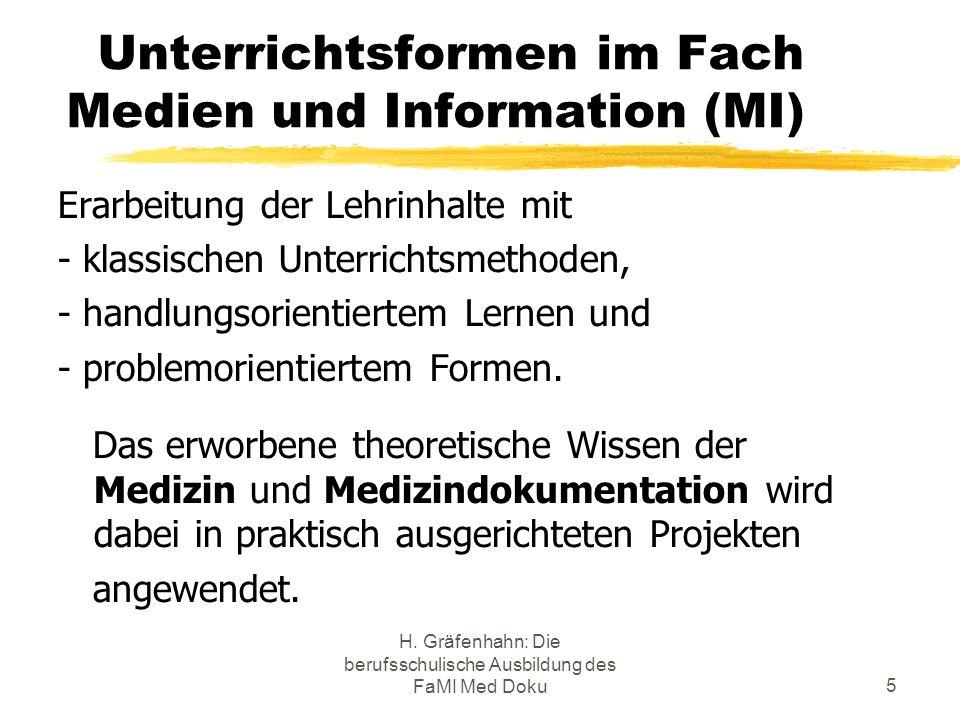 Unterrichtsformen im Fach Medien und Information (MI)