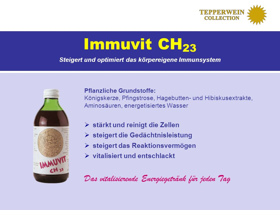 Steigert und optimiert das körpereigene Immunsystem