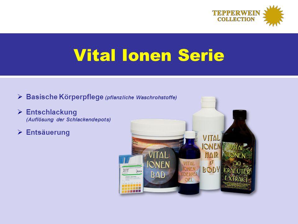 Vital Ionen Serie Basische Körperpflege (pflanzliche Waschrohstoffe)